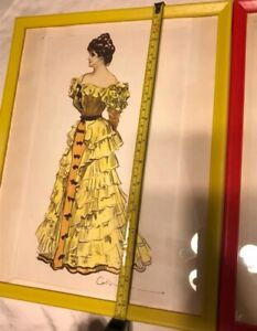 2 Rare Victorian lithographs Women#x27;s Clothing Catalog Gibson Girl Framed WOW $45.00