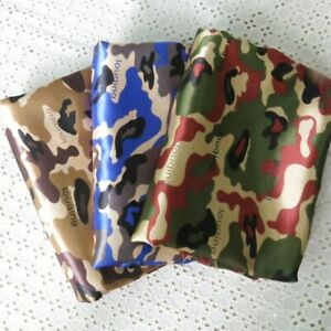 1 Yard camouflage satin material dress crafts clothing bag lining Fabric