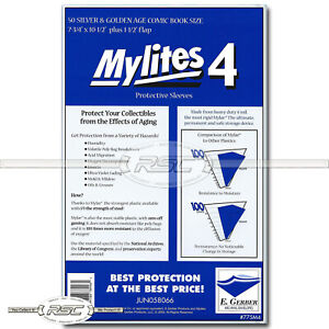 50 - Mylites 4 Silver & Golden Age 4-Mil Mylar Comic Bags by E. Gerber - 775M4