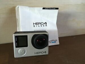 GoPro Hero 4 Silver Edition Touchscreen camera camcorder + Sd Card 8gb Manuals