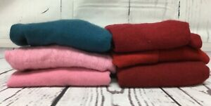 Cashmere Sweater Craft Cutter Lot Upcycle or repair lot of 6 red pink blue