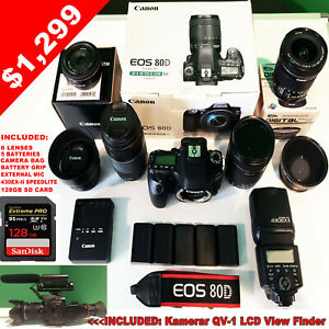 Canon EOS 80D DSLR Camera With 3