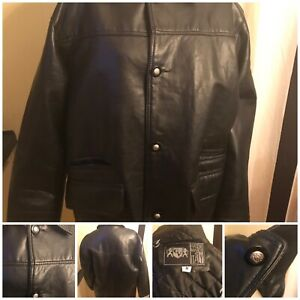 Gianni Versace Hand Made In Italy Leather Jacket Authentic  Size M