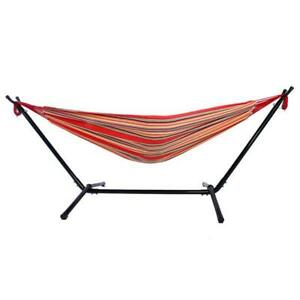 Portable Garden  Hammock with Steel Stand Travel Camping Swing Bed Outdoor