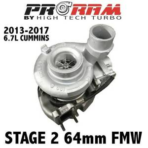 HTT New ProRam Stage 2 64MM FMW Turbocharger For 13-18 Dodge 6.7 Cummins Diesel
