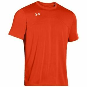 Under Armour Boys Golazo Soccer Jersey T-Shirt Orange Youth S M L XL 1260596-860