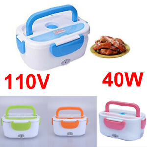 110V 40W Portable Electric Heated Heating Lunch Box Bento Travel Food Warmer US