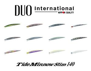 DUO Tide Minnow Slim 140 Saltwater Floating Lure Select Color s