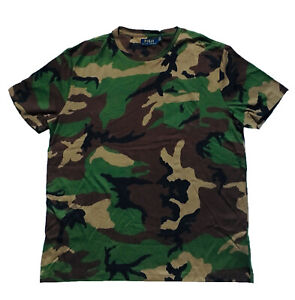 NEW Polo Ralph Lauren CAMOUFLAGE Mens Pocket Shortsleeve T Shirt BIG
