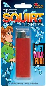 Red Water Squirting Lighter Great Trick Jokes Prank Gag Toy Gift Novelty Smokers