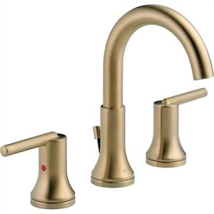 Delta Trinsic Modern Champagne Bronze Widespread High Arc Bathroom Faucet 614920
