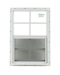 Shed Window 12 x 18 White J Channel SAFETY TEMPERED GLASS Playhouses Coops $26.50