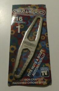 What-A-Wrench Universal Multi Size Wrench Metric & SAE New In Package!