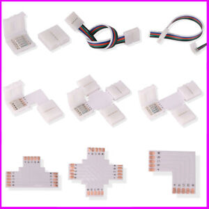 5pin RGBW RGBWW 5050 LED Strip Light Connector Adapter Cable PCB Clip Solderless