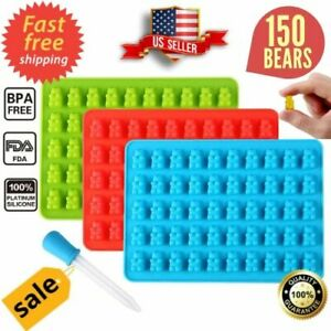 New Gummy Bear Mold Candy Making Supplies Ice Chocolate Maker Silicone Molds kit