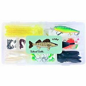 Walleye Topwater Lures Fishing Tackle Kit 112 Pc. Jigs Hooks Spinner Harness