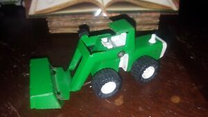 Vintage Buddy L Construction Vehicle Front End Loader Metal Toy Green *Used* $14.00