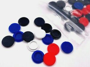 Asteroids Arcade1up 38 Screw Caps/Covers Light Blue, Red, White, and Black