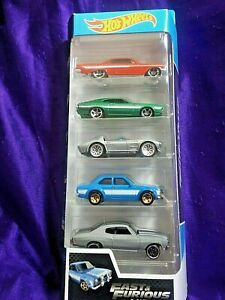 HOT WHEELS FAST AND FURIOUS 5 PACK STREET RACERS MINT VEHICLES MINT BOX MUST SEE