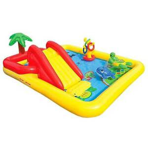 Intex Ocean Play Center Kids Inflatable Wading Pool 57454EP Open Box