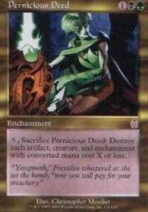 Pernicious Deed - Apocalypse - Moderate Play English MTG Magic FLAT RATE SHIP