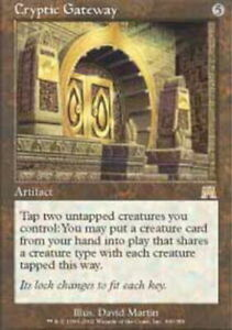 Cryptic Gateway - Onslaught - Heavy Play English MTG Magic FLAT RATE SHIP