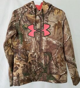 UNDER ARMOUR BrownPink  CAMO HOODIE PULLOVER WOMEN'S Size Small