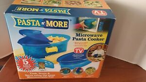 Pasta N More 5-in-1 Nonstick Microwave Pasta Cooker As Seen On TV Blue NEW