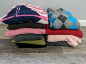 10 Cashmere Sweaters Craft Sewing Projects Multicolors Men's Women's Cutter #4