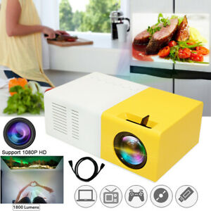 Mini Portable Multimedia LED LCD Projector Full HD 1080P Home Theater USB