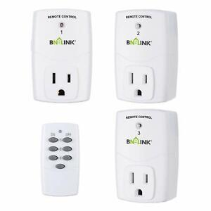 BN-LINK Mini Wireless Remote Control Outlet Switch Power Plug