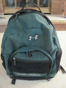 UNDER ARMOUR GREEN & BLACK BACKPACK $8.49