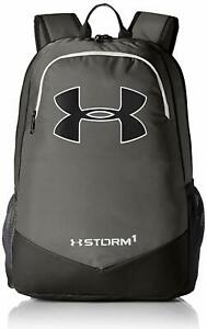 Under Armour Boys UA Storm Scrimmage School Backpack Gray Graphite White 8357 $39.99