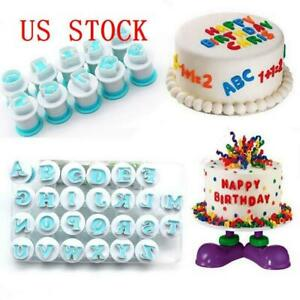 2019 Alphabet Letter Number Cookie Fondant Mould Cake Icing Cookie Cutter Mold