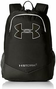 NEW Under Armour Boy's Storm Scrimmage School Backpack Black Silver NWT 8369 $39.99