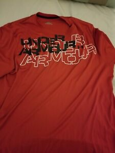 Under Armour Dri-Fit Blocks Red Adult XL T-Shirt