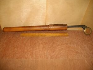 Q694  Antique Brass Wheel Leather Tool Maybe ?? I Have No Idea