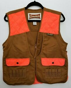 Gamehide Blaze Orange Upland Hunting Shotgun Youth Front Loader YCV Vest Large