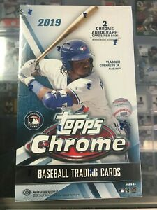 2019 Topps Chrome Sealed Hobby Box 24 packs 2 Auto FREE SHIPPING!!