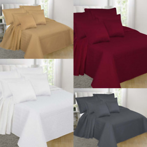 1PC VERSATIL VINYL WHITE WATERPROOF BED MATRESS PROTECTOR WITH ZIPPER PVC COVER