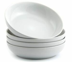 American Atelier Pasta Soup Salad Cereal Bowls White Earthenware 8.5