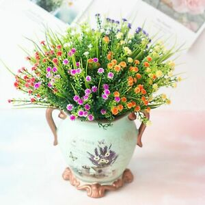 Artificial Flowers Fake Plant Outdoor Floral Greenery Shrubs BUY 2 GET 2 FREE