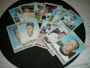 1970 TOPPS...11 different...excellent or better...#122-277