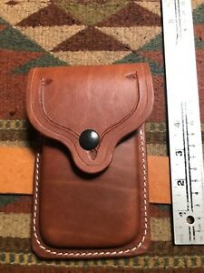 Fits Single Stack 45ACP Colt Model 1911 Tanned Leather Dual Magazine Flap Pouch