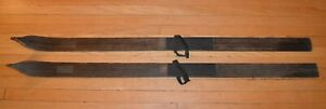 1900-1920 Antique Wood Snow Skis 58