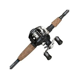 Shakespeare Agility Low Profile Baitcast Reel and Fishing Rod Combo cast control