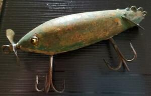 1920 Heddons Dowagiac wood lure with glass eyes