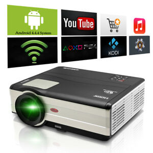 4500lm Android Wifi Home Theater LED Projector HDMI TV VGA  Full HD 1080p Beamer