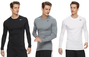 Mens Nike Pro DRI FIT Base Layer Cool Top Fitted L S T Shirt XXL amp; XL NWT $23.74