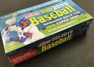 2019 Topps Heritage High Number Hobby Baseball Factory Sealed Box ~ 24 Packs